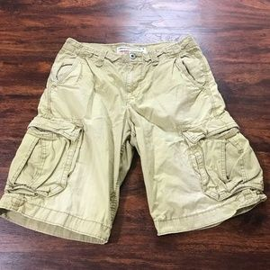 AMERICAN EAGLE Long Board Khaki 100% Cotton Cargo